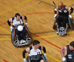 Quad Rugby Action