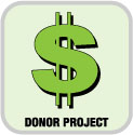 This is a picture of the donate money logo