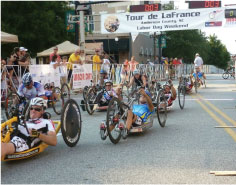 Tour de LaFrance handcycling race start