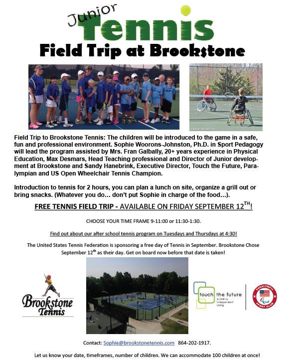 Brookstone Tennis Field Trip 2014