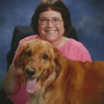 Mary Kiddoo with service dog Molly
